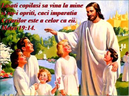 Lasati copii sa vina la pastorul cel bun